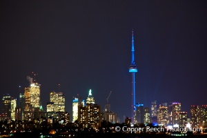 The CN Tower lit up blue last year for World Autism Awareness Day